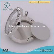 Neueste neue 17mm runde silberne Edelstahlplatten Tanne für 25mm Medaillon