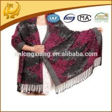 China de moda de promoción de la fábrica de diseño 100% seda Pashmina bufanda para las mujeres