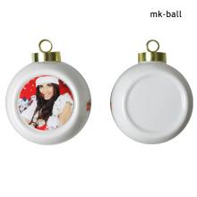 Ornamento suspenso Bolinho de cerâmica Sublimação Bolas de Natal com impressão personalizada