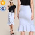 Рюшами Хем bodycon юбка Производство Оптовая продажа женской одежды (TA3095S)