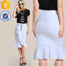 Ruffle Hem Bodycon Skirt Manufacture Wholesale Fashion Women Apparel (TA3095S)