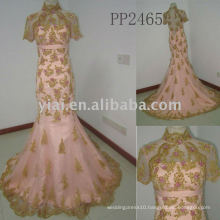 PP2465 new arriva lfree shipping Halter beaded lace evening gown 2011