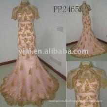 PP2465 novo arriva lfree envio Halter frisado vestido de noiva de renda 2011