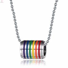 Suministra el collar pendiente redondo del acero inoxidable para el gay