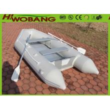 3,2 m alumínio placa barco inflável pesca com remo