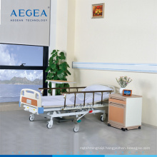 AG-BMY001 al-alloy handrail clinical mobile hydraulic pump hospital bed for patients
