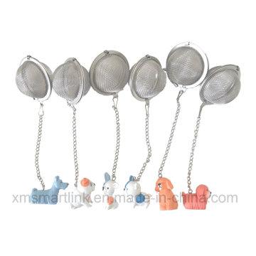 Decoração de animais de estimação de artesanato Filtro de bolas de chá