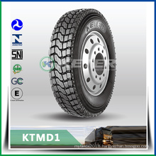 KETER Truck Tyre 12.00R20 KTMD1 with tube, Mix road condition Drive position TBR,prompt delivery with warranty promise