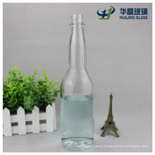 Clear Long Calabash Neck 450ml Empty Liquor Wine Glass Bottle