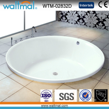 Big Round High Quality Simple Drop-in Bathtub (WTM-02832D)
