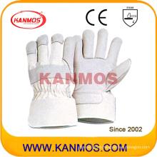 Guantes de trabajo de cuero de seguridad de grano de cuero blanco de vaca (120041)
