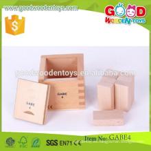 Juguetes rectangulares vendedores calientes de los prismas juguetes educativos del gabe de los juguetes del gabe de madera del OEM para el niño