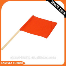 Orange Lighted Ouutdoor Safety Flag PVC Fabric For Sale