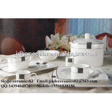 Tianyuan square shape royal fashionable bone china kitchenware wholesale