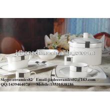 Tianyuan forma quadrada royal fashionable porcelana porcelana por atacado