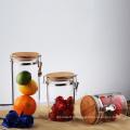 Pots de stockage de verre de cuisine avec couvercle de serre
