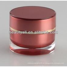 Plastic Acrylic Cosmetic Jar Atacado