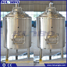 KUNBO 304 316 Stainless Steel Jacket & Single layer Brite Beer Tank BBT