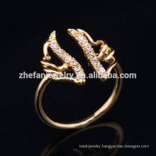 2018 jewelry wholesale newest angle wing ring