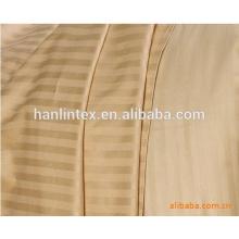 250T 40s * 40s sateen stripe branco 100% tecido de algodão para lençóis