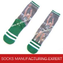 Chaussette de sport de basket-ball imprimée pour homme