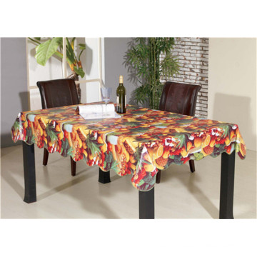 New Designed Friendly LFGB Spunlace Backing PVC Printed Tablecloth with Fruit