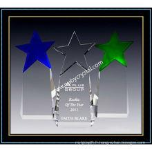 Cristal de 9 pouces de hauteur Paramount Star Award (NU-CW859)