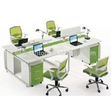 Heißes Verkaufsbüro vier Sitze stuff Schreibtischmöbel, Bürotischmöbelentwurf