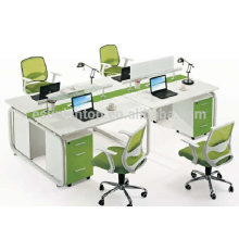 Hot sale office four seats stuff desk furniture , Office desks furniture design