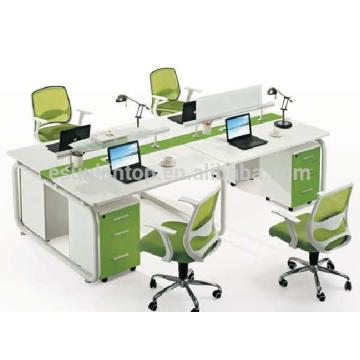Hot sale office four seats stuff desk furniture , Office desks furniture design