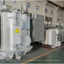 Transformador de energia elétrica industrial imerso em óleo de bobina de cobre