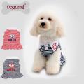 Venta caliente de enfriamiento raya de anclaje verano primavera perro mascota perrito vestido ropa perro camiseta