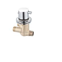 Wall mounted single brass thermostatic bath shower mixer
