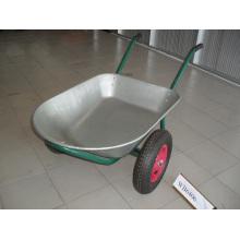 Capacidade de água galvanizada da bandeja 75L Carrinho de mão de roda