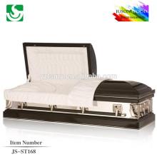 JS-ST168 trade assurance supplier reasonable price metal aluminum casket from china casket manufacturers