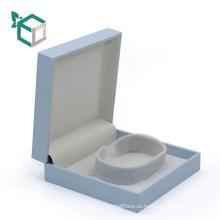 роскошный синий цвет magetic closureJewelry упаковки с ворсинки внутренний лоток