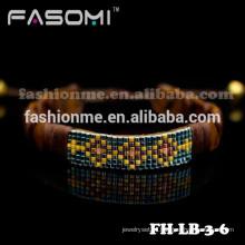 Nova moda pulseira, pulseira de couro genuíno para mulheres