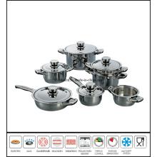 12 PCS Stainless Steel Sauce Pan Set