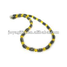 Magnetische Hämatit Kristall Perlen Halskette