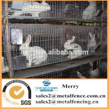 Galvanisé carré soudé poulet / lapin / vison cage treillis métallique animal cage soudé treillis métallique