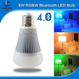 Color changing music rgbw led bulb bluetooth