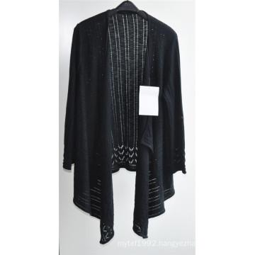 Women Long Sleeve Opean Patterned Knitwear Cardigan