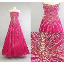 Nuevo estilo magnífico rebordear palabra de longitud vestido de fiesta de baile dressMR-2-004