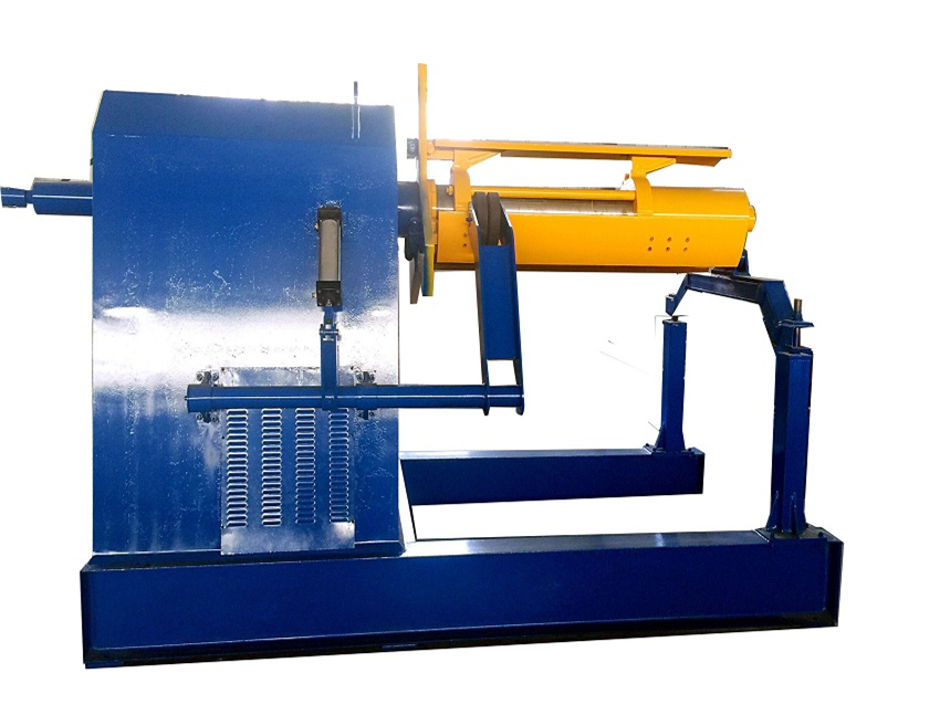 Hydraulic wire decoiler with straightening machine manufacture
