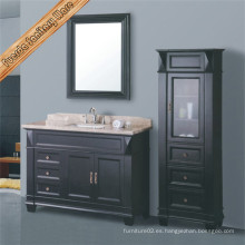 Gabinete clásico de baño de madera maciza