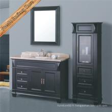 Fed-1503 Cabinet de salle de bains en vasque en bois massif de transition