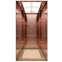 Factory design electric lift Residential elevator Rose titanium mirror etching home lifts