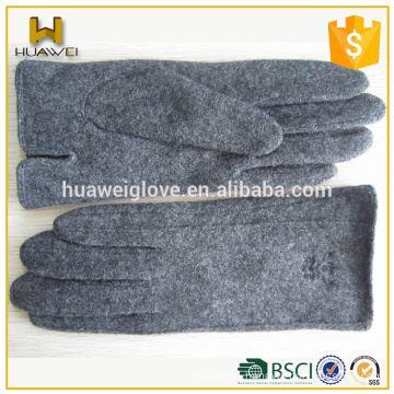 Cheap Grey Cycling Woolen Gloves Warm Thick Neutral Wool Gloves Winter
