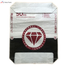 Plastic cement packaging bags with valve
