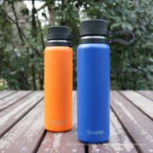 Botella de agua aislada fría 24 horas caliente 12 horas -28 oz, boca ancha de acero inoxidable Termo de vacío con Meda lStrainer